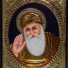 Tanjore Guru Nanak Painting Handmade South India Religion Thanjavur Relief Art