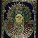 Tanjore Adi Parashakti Painting Handmade Indian Thanjavur Wall Decor Gold Art