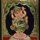 Ganesh Tanjore Art Handmade South Indian Religious Thanjavur Relief Painting