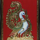 Tanjore Painting Handmade Indian Thanjavur Wall Decor Gold Swan Nature Artwork