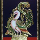 Tanjore Golden Swan Painting Handmade Indian Thanjavur Wall Decor Nature Artwork