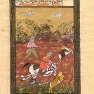 Persian Miniature Illuminated Manuscript Art Handmade Muslim Islamic Painting