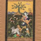 Persian Miniature Islamic Art Handmade Illuminated Manuscript Muslim Painting