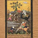 Persian Illuminated Manuscript Miniature Islamic Art Handmade Muslim Painting