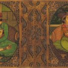Indian Miniature Painting Handmade Antique Finish Synthetic Ivory Mughal Art