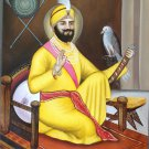 Guru Gobind Singh Sikh Art Handmade Indian Punjab Ethnic Oil Canvas Painting