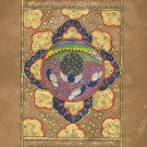 Indo Persian Peacock Bird Miniature Painting Illuminated Manuscript Islamic Art