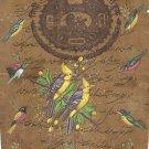 Indian Bird Miniature Painting Handmade Nature Ornithology Old Stamp Paper Art