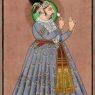 Rajasthani Painting Jaipur Maharaja Madho Singh Handmade Indian Miniature Art