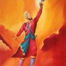 Guru Gobind Singh Sikh Painting Handmade Indian Ethnic Oil Canvas Punjab Art