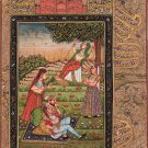 Mughal Miniature Painting Handmade Indo Islamic Script Paper Moghul Ethnic Art