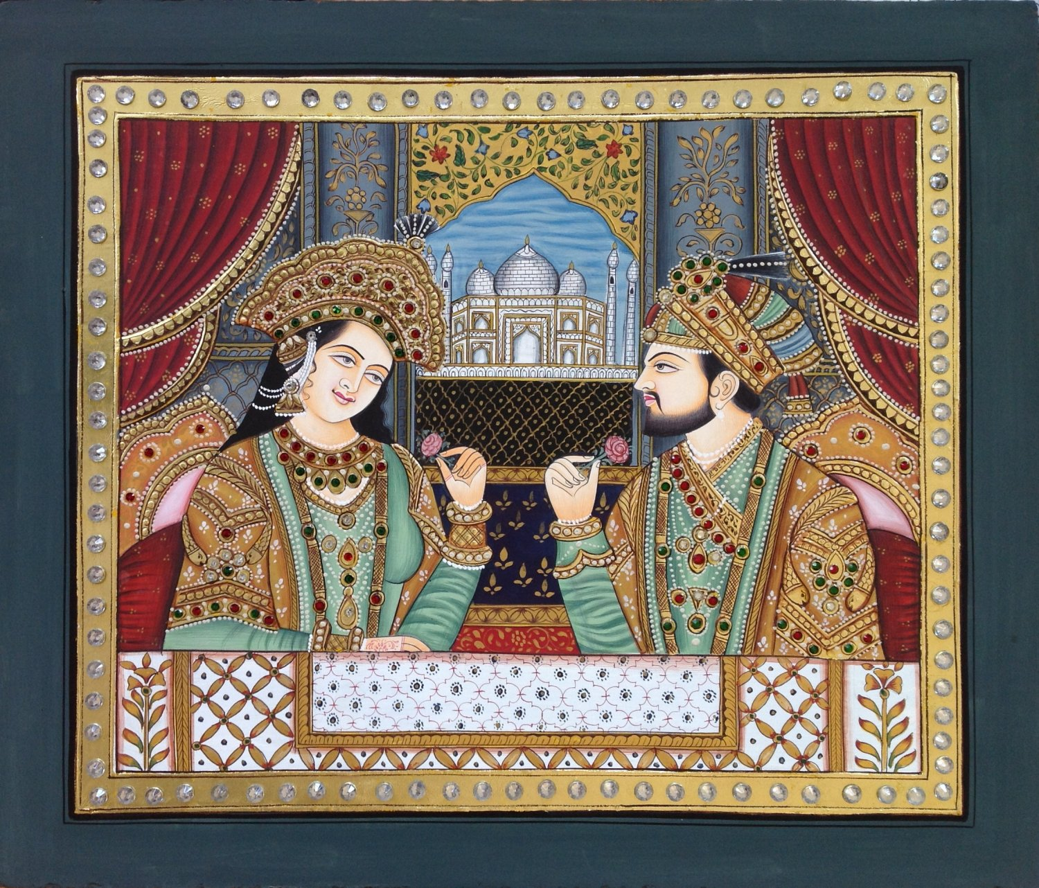 Tanjore Mughal Painting Handmade Indian Thanjavur Mumtaz ...