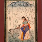 Rajasthan Ragini Ragamala Art Indian Handmade Miniature Ethnic Folk Painting