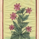 Mughal Flower Miniature Art Handmade Indian Moghul Islamic Floral Decor Painting