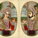 Moghul Empire Art Shah Jahan Mumtaz Mahal Handmade Mughal Miniature Painting