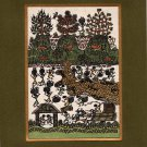 Varli Art Handmade Indian Maharashtra Tribal Miniature Decor Warli Folk Painting