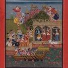 Rajasthani Rajput Painting Handmade Lord Shiva & Maharaja Jagat Singh Ethnic Art