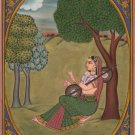 Rajasthan Ragini Ragamala Art Indian Handmade Ethnic Folk Miniature Painting