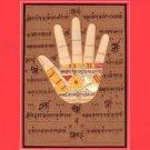 Hand Hath of Vishnu Tantrik Painting Handmade Indian Tantric Hindu Handprint Art