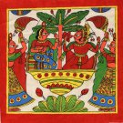Phad Rajasthan Miniature Art Handmade Indian Folk Maharajah Scroll Painting