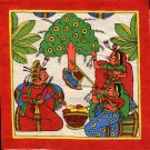Rajasthan Phad Art Handmade Indian Folk Miniature Ethnic Tribal Royalty Painting