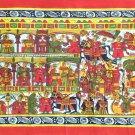 ndian Phad Art Handmade Miniature Scroll Decor Ethnic Rajasthan Folk Painting