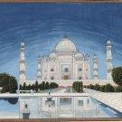 Taj Mahal Indian Art Handmade Wonder of World Mogul Monument Miniature Painting