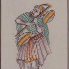 Rajasthani Musician Portrait Painting Handmade Indian Ethnic Miniature Art