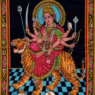 Durga Ma Batik Folk Art Handmade Indian Tribal Cotton Ethnic Religion Painting