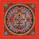 Mandala Kalachakra Painting Handmade Tibetan Thangka Buddhist Meditation Art