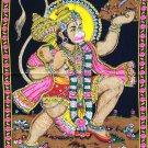 Hanuman Batik Folk Art Handmade Indian Tribal Cotton Ethnic Religion Painting