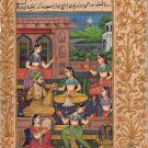 Mughal Miniature Art Handmade Indian Classical Harem Watercolor Folk Painting
