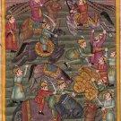 Mughal Empire Miniature Painting Handmade Islamic Illuminated Manuscript Art