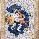 Persian Epic of Kings Painting Handmade Ferdowsi Shahnameh Miniature Artwork