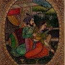 Mughal Miniature Painting Handmade Antique Finish Indian Emperor Harem Folk Art