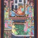 Mughal Empire Miniature Painting Handmade Moghul Period Akbarnama Indian Art