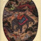Indian Mughal Miniature Painting Hand Painted Moghul Empire Historical Hunt Art