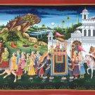 Rajasthan Maharaja Procession Art Handmade Indian Royal Ethnic Folk Painting