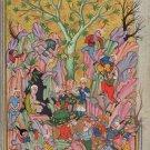 Persian Miniature Art Rare Haft Awrang of Jami Rosary of the Pious Folk Painting