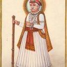 Maharajah Indian Miniature Painting Handmade Watercolor Ethnic Folk Decor Art