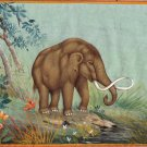 Mastodon Art Handmade Extinct Wild Animal Pre Historic Indian Miniature Painting