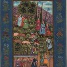 Mughal Empire Miniature Painting Rare Handmade Emperor Babur Indian History Art