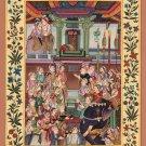 Mughal Miniature Painting Handmade Jahangirnama Moghul Empire Indian History Art