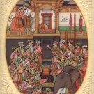 Mughal Jahangirnama Painting Handmade Moghul Empire Indian History Miniature Art