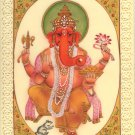 Lord Ganesh Art Handmade Indian Hindu Miniature Religious Ganesha Decor Painting