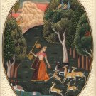 Todi Ragini Rajasthani Painting Indian Ethnic Handmade Ragamala Miniature Art