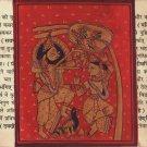 Kalpasutra Jainism Illuminated Manuscript Painting Indian Historical Jain Art