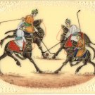 Rajasthan Camel Polo Miniature Artwork Handmade Indian Royal Sport Folk Painting