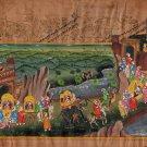 Rajasthani Indian Miniature Painting Handmade Royal Wedding Procession Folk Art
