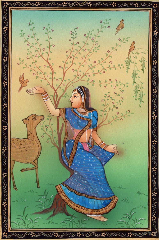 Rajasthan Miniature Ragini Ragamala Art Indian Handmade Folk Ethnic Painting